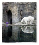 The Polar Bear And The Purple Chair Fleece Blanket