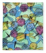 The Pond - An Aerial View Fleece Blanket
