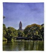The Pond - Central Park Fleece Blanket