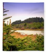 The Pond In The Forest Fleece Blanket