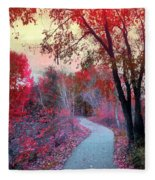 The Pondering Path Fleece Blanket