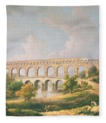The Pont Du Gard, Nimes Fleece Blanket