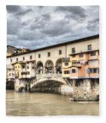 The Ponte Vecchio In Florence Fleece Blanket