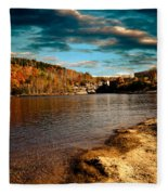 The Pool Below Upper Falls Rumford Maine Fleece Blanket