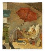 The Poor Poet II Fleece Blanket