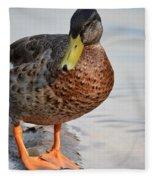 The Posing Duck Fleece Blanket