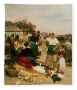The Poultry Market Fleece Blanket