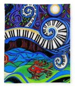 The Power Of Music Fleece Blanket