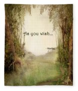 The Princess Bride - As You Wish Fleece Blanket
