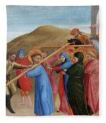 The Procession To Calvary Fleece Blanket