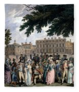 The Promenade In St James Park, C.1796 Fleece Blanket