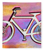 The Psychedelic Bicycle Fleece Blanket