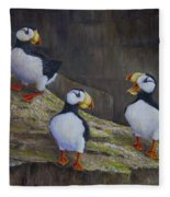 The Puffin Report Fleece Blanket