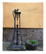 The Pump At St Goar Am Rhein Fleece Blanket