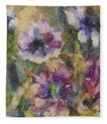 The Purple Bouquet Fleece Blanket