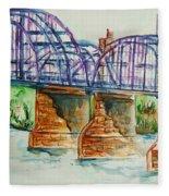 The Purple People Bridge Fleece Blanket