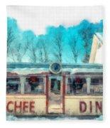 The Quechee Diner Vermont Fleece Blanket