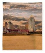 The Queen City Cincinnati Fleece Blanket