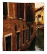 The Quiet Canal Fleece Blanket