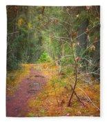 The Quiet Path Fleece Blanket