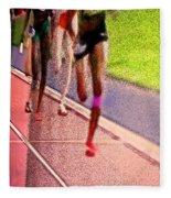 The Race By Jrr Fleece Blanket