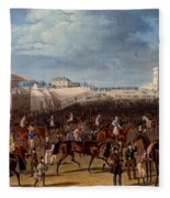 The Race Over, Print Made By Charles Fleece Blanket