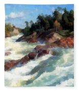 The Raging Rapids Fleece Blanket