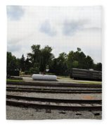 The Railroad From The Series View Of An Old Railroad Fleece Blanket