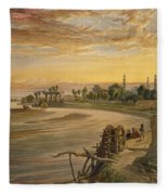 The Ravee River, From India Ancient Fleece Blanket