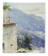 The Ravello Coastline Fleece Blanket