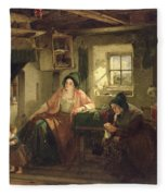 The Ray Of Sunlight, 1857 Oil On Canvas Fleece Blanket
