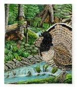 The Real Thunder Bird  Fleece Blanket