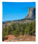 The Realm Of Devils Tower Fleece Blanket