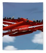 The Red Arrows Synchro Pair Fleece Blanket