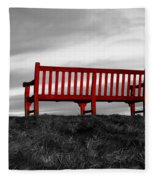 The Red Bench Fleece Blanket