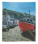 The Red Boat Polperro Corwall Fleece Blanket