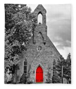 The Red Door Monochrome Fleece Blanket