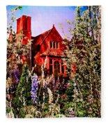 The Red House Fleece Blanket