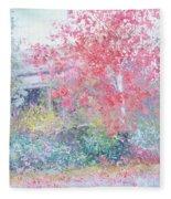 The Red Japanese Maple Tree Fleece Blanket