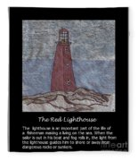 The Red Lighthouse Fleece Blanket