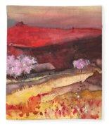 The Red Mountain Fleece Blanket
