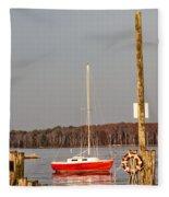 The Red Sailboat Fleece Blanket
