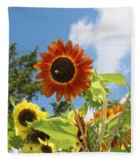 The Red Stand Out Fleece Blanket
