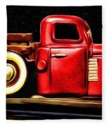 The Red Truck Fleece Blanket