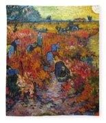 The Red Vineyard Fleece Blanket