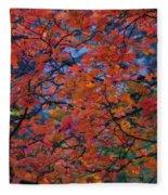 The Reds Of Autumn  Fleece Blanket