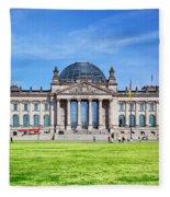 The Reichstag Building Berlin Germany Fleece Blanket