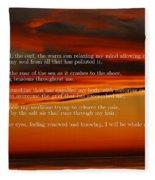 The Renewal Poem Fleece Blanket