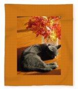 The Restful Leaves If Fall Fleece Blanket