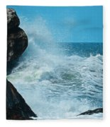The Restless Sea Digital Art Fleece Blanket